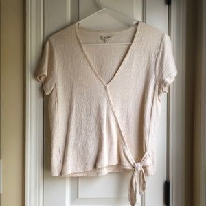 Madewell Wrap front tie top